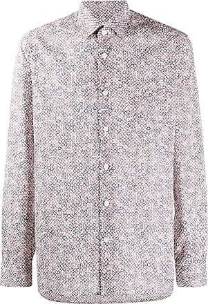 Kiton floral-print cotton shirt - Red