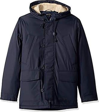 J.crew Mens Sherpa-Lined Hooded Parka Jacket, Navy, XS