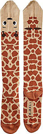 K. Bell Socks K. Bell Womens Leg Eater Novelty Casual Knee High Socks, Giraffe (Tan), Shoe Size: 4-10