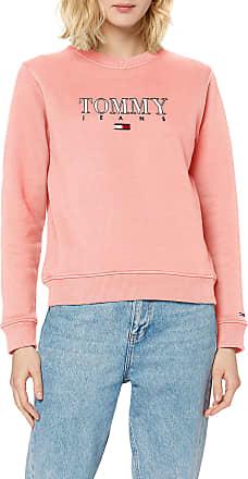 Tommy Jeans Womens TJW Essential Logo Sweatshirt, Pink (Pink Te6), 12 (Size:L)