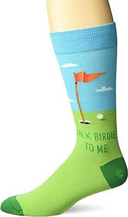 Hot Sox Mens Sports Series Novelty Casual Crew Socks, talk Birdie To Me (Aqua), Shoe Size: 6-12