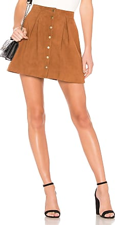 House Of Harlow x REVOLVE Klara Suede Skirt in Brown