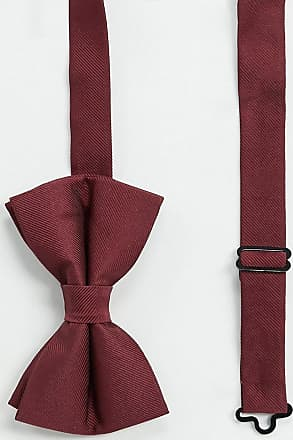Asos Farfallino in raso bordeaux-Rosso
