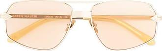 Karen Walker Du Bois oversized sunglasses - ORANGE