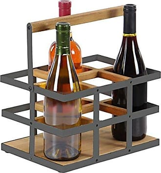 UMA Enterprises Inc. Deco 79 89267 Wine Rack, Brown, White