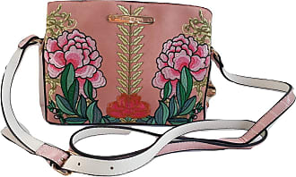 River Island Pink Floral Embroidered Cross Body Bag