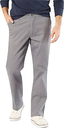 Dockers Dockers D2 Lived & Worn Khaki Chinos Straight Fit Trousers Grey Volcanic Ash 32 Waist x 34 Leg