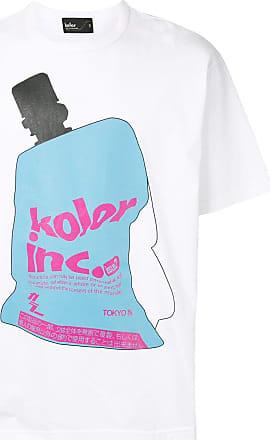 Kolor graphic print round neck T-shirt - White