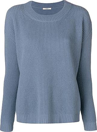 Odeeh Suéter canelado mangas longas - Azul