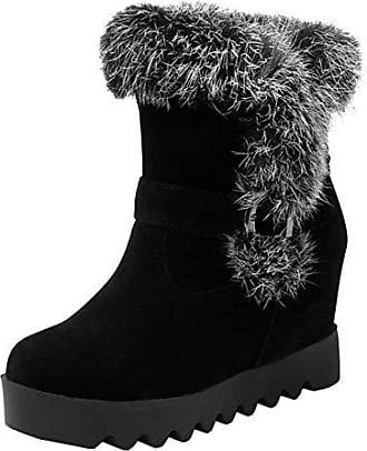 Details zu Gothic Lack Plateau Stiefel Kniehoch Damenstiefel Schuhe Boots schwarz neu Hot