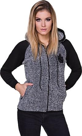 FUTURO FASHION Ladies Warm Casual Hoodie Full Zip Fleece Hoody Long Sleeve Outwear Hooded Sweatshirt FZ106