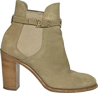 45dd81f954a Louis Vuitton Tan Louis Vuitton Embossed-leather Ankle Boots