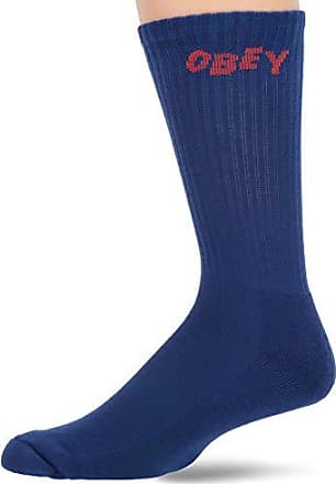 ONE SIZE OBEY Mens Jumbled Athletic Socks golden palm//Purple