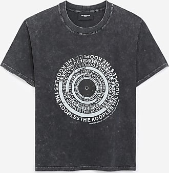 The Kooples Black cotton T-shirt with vinyl screen print - WOMEN