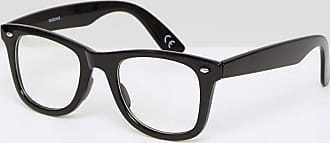 Asos square fashion glasses in black with clear lenses