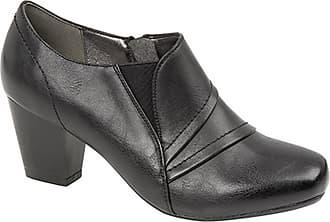Boulevard Ladies Diane Inside Zip Black Mid Heel Ankle Shoe Boots - Black PU, Ladies UK 5 / EU 38
