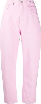 Ireneisgood Calça jeans cenoura cintura alta - Rosa