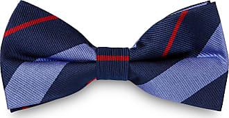 TND Basics Papillon blu e rosso in seta con fantasia a righe f9d970e698f7