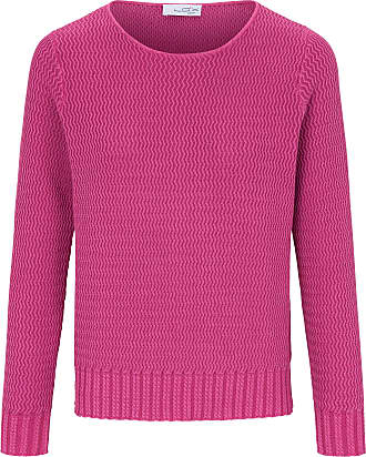 Looxent Round neck jumper long sleeves Looxent bright pink