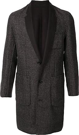 Cerruti button down V-neck coat - Brown