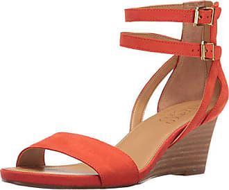 Franco Sarto Womens Danissa Wedge Sandal, Orange, 7 M US