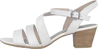 Jana Sandals in Plus Sizes White 8-8-28312-24 100 Large Ladies Shoes White Size: 10 UK