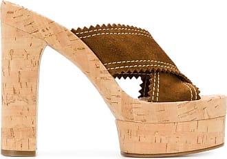 Casadei open toe 145mm slip-on sandals - Brown