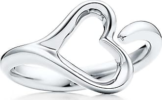 Tiffany & Co. Elsa Peretti Open Heart ring in sterling silver, small - Size 5 1/2