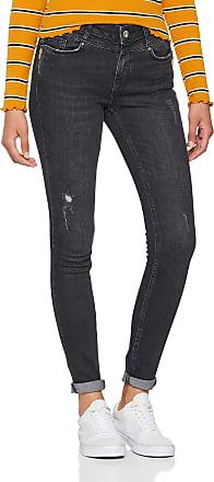 Vero Moda Womens Vmseven Mr Slim Zipjean Ba105 Noos Jeans, Black (Black Black), W32/L32
