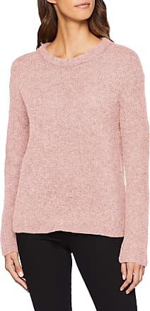 Pieces Womens Pcfortuna Ls Wool Knit Noos Jumper, Pink (Peachskin Detail: Melange), 12 (Size: Medium)