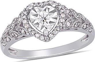 Zales 1/5 CT. T.w. Diamond Heart-Shaped Frame Vine Vintage-Style Promise Ring in Sterling Silver