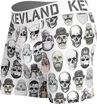 Kevland Underwear cueca boxer kevland simple skulls white branco (1, GG)