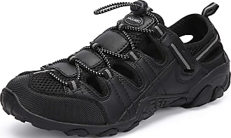 Saguaro Womens Hiking Sandals Outdoor Sports Sandals Closed Toe Breathable Non-Slip Summer Athletic Sandals for Trekking Trail Walking Beach, 066 Black, 3.5 U