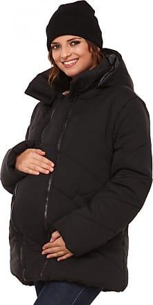 Happy Mama Happy Mama. Womens Maternity Padded Jacket Hood Carrier Removable Insert. 075p (Black, UK 16, 2XL)