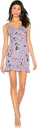 Superdown Charlene Frill Mini Dress in Purple