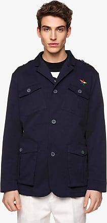 Benetton, Giacca Regular Fit Con Tasche, taglia XL, Scuro, Uomo
