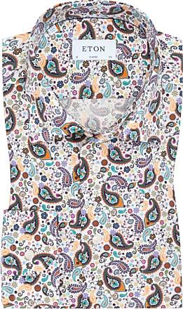 Eton Übergröße : Eton, Oberhemd mit Paisley-Muster, Classic Fit in Beige für Herren