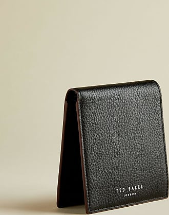 Ted Baker Leather Bifold Wallet in Black TRUBEE, Mens Accessories