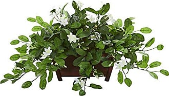 Nearly Natural 8216 Mix Stephanotis Artificial Decorative Planter Silk Plants Green