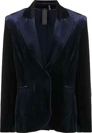 Norma Kamali straight-leg velvet trousers - Azul