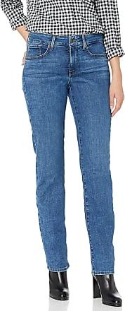 NYDJ Womens Petite Size Marilyn Straight Leg Jeans, Presidio, 12