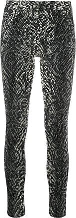 John Richmond Calça skinny cropped com estampa pele de cobra - Preto