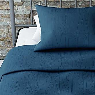 Dorel Home Products Novogratz Dream Quilt Set with Stylish Design in Brushed Microfiber - Soft & Lightweight - 2 Piece (Blue, Twin)