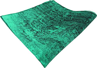 TigerTie fine leichtes TigerTie silk handkerchief in turquoise black patterned - handkerchief 100% silk