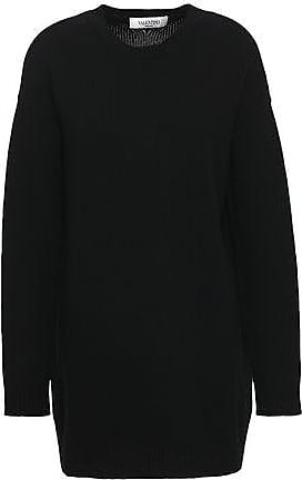 38c05a3df0d9 Valentino Valentino Woman Brushed Wool And Cashmere-blend Sweater Black  Size XS