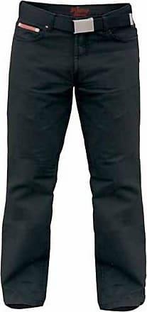 Duke London Mens Kingsize Mario Bedford Cord Trousers with Belt (42L) (Black)