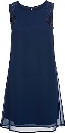 Bodyflirt Dam Klänning med applikation i blå utan ärm - BODYFLIRT 26ce2f330fb8f