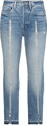 Frame Denim Le Original Zip Front Jeans - Blue