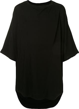 Julius Camiseta oversized assimétrica - Preto