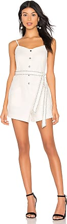 Splendid La Paz Twill Romper in Antique Off White
